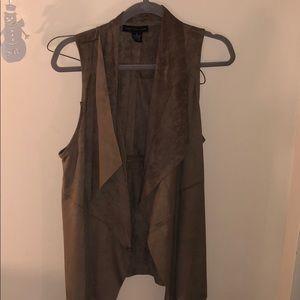Suede brown vest